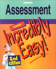 Cover of: Assessment Made Incredibly Easy! (Incredibly Easy! Series)