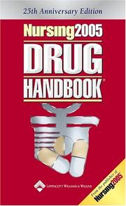Cover of: Nursing2005 Drug Handbook, 25th Anniversary Edition (Nursing Drug Handbook)