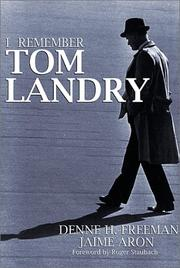 Cover of: I Remember Tom Landry