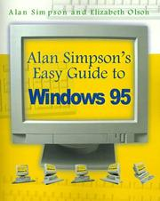 Cover of: Alan Simpson's Easy Guide to Windows 95