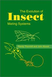 Cover of: The Evolution of Insect Mating Systems