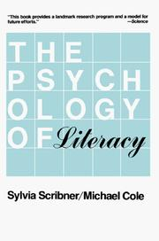Cover of: The Psychology of Literacy
