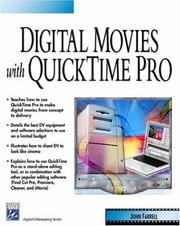 Cover of: Digital Movies with QuickTime Pro (Digital Filmmaking Series) (Digital Filmmaking Series)
