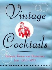 Cover of: Vintage Cocktails
