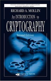 Cover of: An Introduction to Cryptography