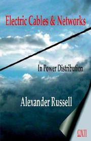 Cover of: Electric Cables & Networks in Power Distribution