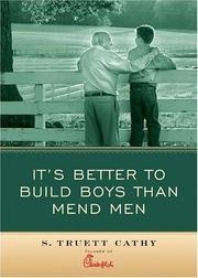 Cover of: It's Better to Build Boys than Mend Men