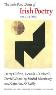 Cover of: Wake Forest Series Of Irish Poetry (Wake Forest Series of Irish Poetry)