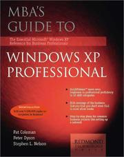 Cover of: MBA's Guide to Windows XP Professional