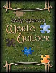 Cover of: Gary Gygax's World Builder