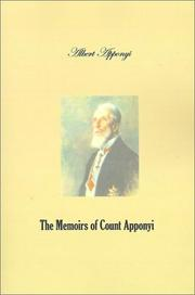 Cover of: The memoirs of Count Apponyi