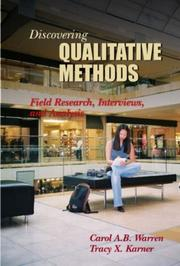 Cover of: Discovering Qualitative Methods: field research, interviews, and analysis