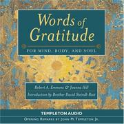 Cover of: Words Of Gratitude