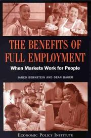 Cover of: The Benefits of Full Employment