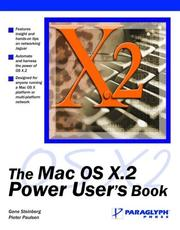 Cover of: The Mac OS X.2 Power User's Book