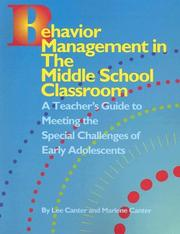 Cover of: Behavior Management in the Middle School Classroom