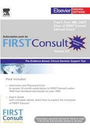 Cover of: FIRST Consult 12-Month Subscription - Professional Version (FIRSTConsult)