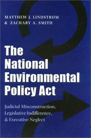 Cover of: The National Environmental Policy Act
