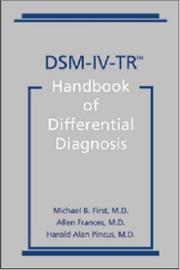 Cover of: DSM-IV-TR Handbook of Differential Diagnosis