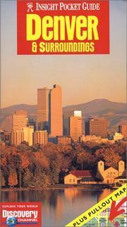 Cover of: Insight Pocket Guide with map Denver (Insight Guides)