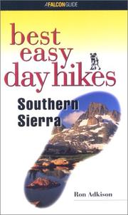 Cover of: Best Easy Day Hikes Southern Sierra