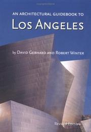 Cover of: An Architectural Guidebook to Los Angeles