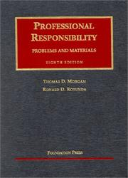 Cover of: Professional Responsibllity