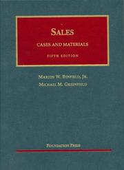 Cover of: Sales