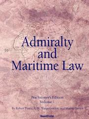 Cover of: Admiralty and Maritime Law, Volume 1