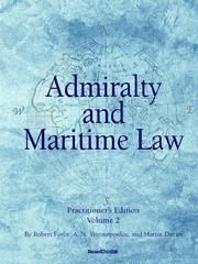 Cover of: Admiralty and Maritime Law, Volume 2