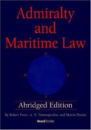 Cover of: Admiralty and Maritime Law Abridged Edition