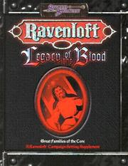 Cover of: Legacy of the Blood