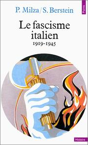 Cover of: Le fascisme italien, 1919-1945