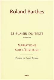 Cover of: Le plaisir du texte