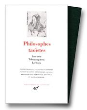 Cover of: Philosophes Taoïstes