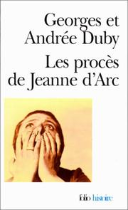 Cover of: Les procès de Jeanne d'Arc