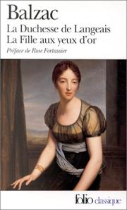 Cover of: LA Duchesse De Langeais (Folio Series : 846)