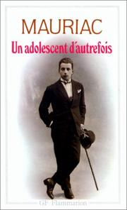 Cover of: Un adolescent d'autrefois