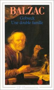 Cover of: Gobseck and Une Double Famille