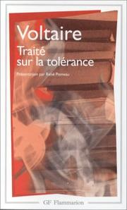 Cover of: Traité sur la tolérance: a treatise on tolerance