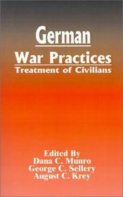 Cover of: German War Practices