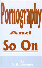 Cover of: Pornography and so on