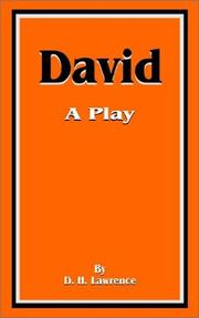 Cover of: David: a play