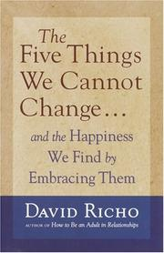 Cover of: The Five Things We Cannot Change