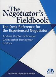 Cover of: The negotiator's fieldbook