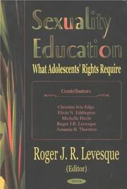 Cover of: Sexuality Education