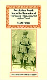 Cover of: Forbidden Road: Kabul to Samarkand