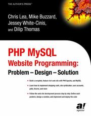 Cover of: PHP MySQL Website Programming