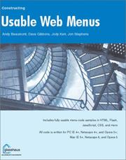 Cover of: Constructing Usable Web Menus