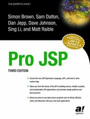 Cover of: Pro JSP, Third Edition
